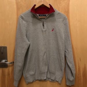 Men's Nautica quarter zip sweater
